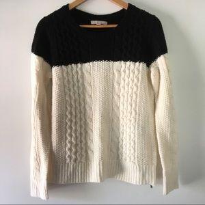 BANANA REPUBLIC black and white crewneck sweater S